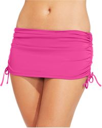 Tommy Bahama Ruched Side-tie Swim Skirt - Lyst