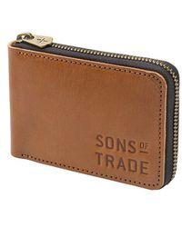 Sons Of Trade - 'flint' Leather Zip Wallet - Lyst
