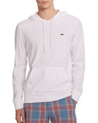 Lacoste Cotton Jersey Hoodie - Lyst