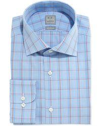 Ike Behar Glen Plaid Dress Shirt - Lyst
