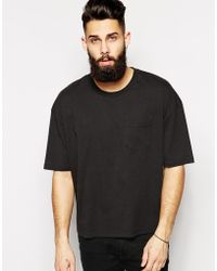 Asos T-shirt with Short Boxy Fit - Lyst