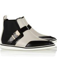 Nicholas Kirkwood Paneled Leather Pointtoe Ankle Boots - Lyst