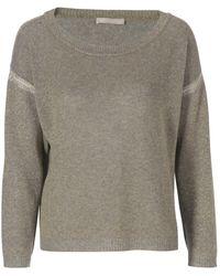 Stefanel Cashmere Brilliant Thread Blend Sweater - Lyst