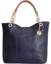 Tommy Hilfiger Leather Th Signature Tote - Lyst