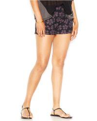 RACHEL Rachel Roy - Printed Patch-pocket Shorts - Lyst