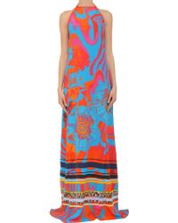 Roberto Cavalli Long-Dress - Lyst
