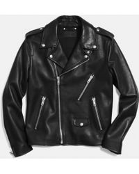 Coach Motorcycle Jacket - Lyst