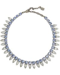 Dannijo Blue Aspen Necklace - Lyst