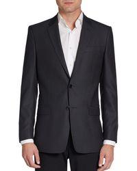 Versace Regularfit Diamond Weave Silk  Wool Blazer - Lyst