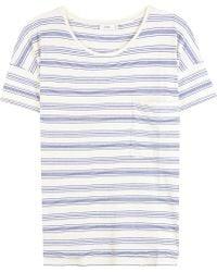 Closed Striped Cotton T-shirt - White