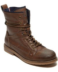 Tommy Hilfiger Leather Ankle Boot - Lyst