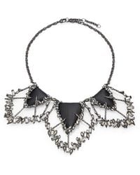 Alexis Bittar Cubist Lucite & Crystal Cluster Three-Station Necklace - Lyst