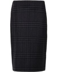 Adam Lippes Micro-Pleat Checked Skirt - Lyst