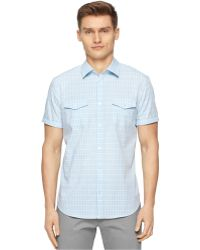 Calvin Klein Multi-Check Shirt - Lyst