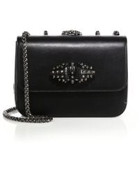 Christian Louboutin | Sweet Charity Studded Leather Crossbody Bag | Lyst