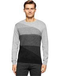 Calvin Klein | Striped Crew-neck Sweater | Lyst