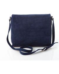 Ecid | Dyad Satchel Bag Suede Navy Blue | Lyst