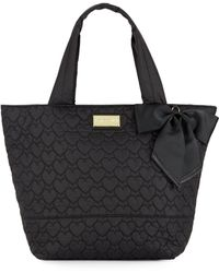 Betsey Johnson - Tie The Knot Quilted Nylon Tote Bag - Lyst