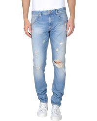 Love Moschino Distressed Denim Straight-Leg Jeans - Blue