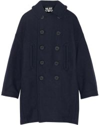 NLST - Oversized Melton Wool-blend Peacoat - Lyst