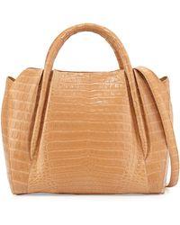 Nancy Gonzalez Medium Crocodile Horseshoe Tote Bag - Lyst