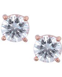 Anne Klein Rose Goldtone And Cubic Zirconia Stud Earrings - Metallic