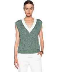 3.1 Phillip Lim Tromp Loeil Cotton Vest - Lyst