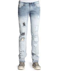 Just Cavalli Ombre Distressed Straightleg Jeans - Lyst