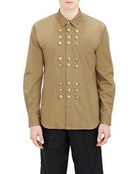 Comme des Garçons Poplin Military Shirt green - Lyst