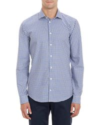 Richard James Blue Check Shirt - Lyst