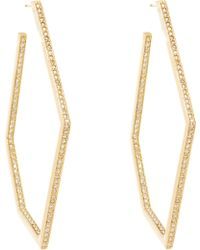 Maiyet - Diamond & Gold Geometric Hoops - Lyst