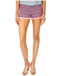 Love Moschino Aztec Stripe Shorts - Lyst