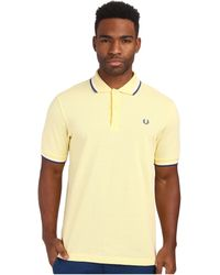 Fred Perry Twin Tipped Polo yellow - Lyst