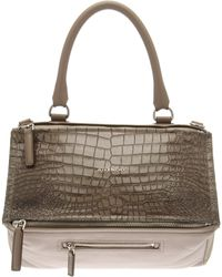 Givenchy Medium Pandora Croc-Stamped Bag - Lyst