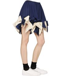 Anna K - Woven Cotton Skirt With Bows At Hem - Lyst