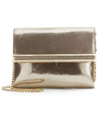 Ivanka Trump - Metallic Leather Flap Shoulder Bag - Lyst