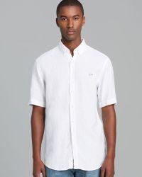 Lacoste Linen Short Sleeve Sport Shirt Regular Fit - Lyst