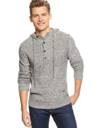 Calvin Klein Macys Exclusive Parallel Knit Hooded Sweater - Lyst