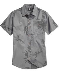 Volcom Pina Printed Slim-Fit Shirt gray - Lyst
