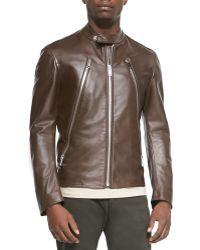 Maison Margiela Leather Zip Moto Jacket - Lyst