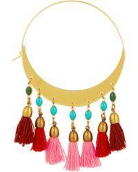 Isabel Marant Gold-plated Beaded Hoop Earrings - Lyst