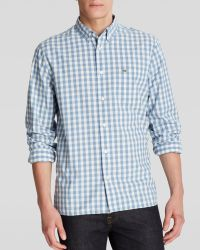 Lacoste Gingham Woven Button Down Shirt  - Lyst