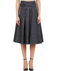 Bottega Veneta Denim A-Line Skirt - Lyst