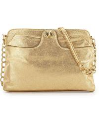 Hobo Shine Metallic Turnlock Shoulder Bag - Lyst