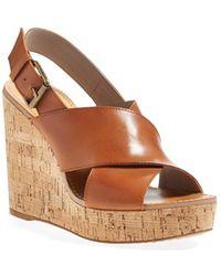 Hinge Wedge Sandal - Lyst