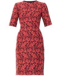 Erdem Ivy Rose-Jacquard Dress purple - Lyst