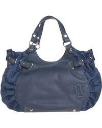 John Galliano Handbag blue - Lyst