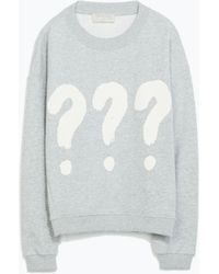 Zara Graphic Sweatshirt - Lyst