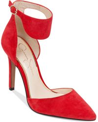 Jessica Simpson Cita Two-Piece Pumps red - Lyst