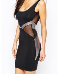Quontum - Bodycon Dress With Metallic Strap Detail - Lyst